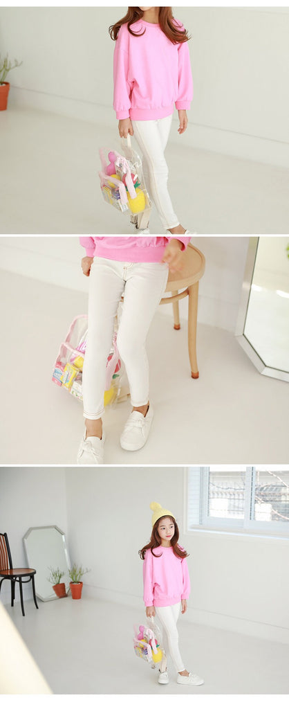 3-15Y Girls White Legging Pants A2045F (Mother size available)