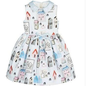 3-8Y Girls Happy House Dress A20127E