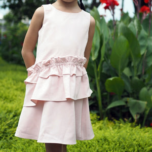 2-12Y Ruffles Layers Dress G20128F