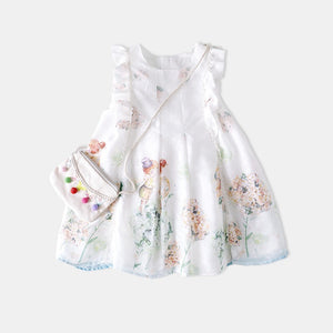 3-10Y Girls Ruffle Garden Dress G20125D