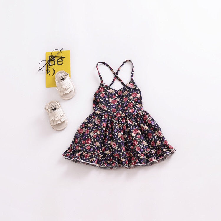 Floral Bareback Dress A20127H (Handwash separately to prevent dye bleed)