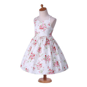 2-8Y Girls Halter Straps Floral Dress A20127K