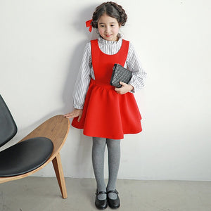 3-15Y Girls Red Dress G21031E (Mother size available)