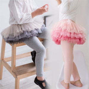 3-8Y Kids Tulle Legging Pants A20451B