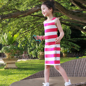 2-15Y Girls Stripes Casual Dress A20121A