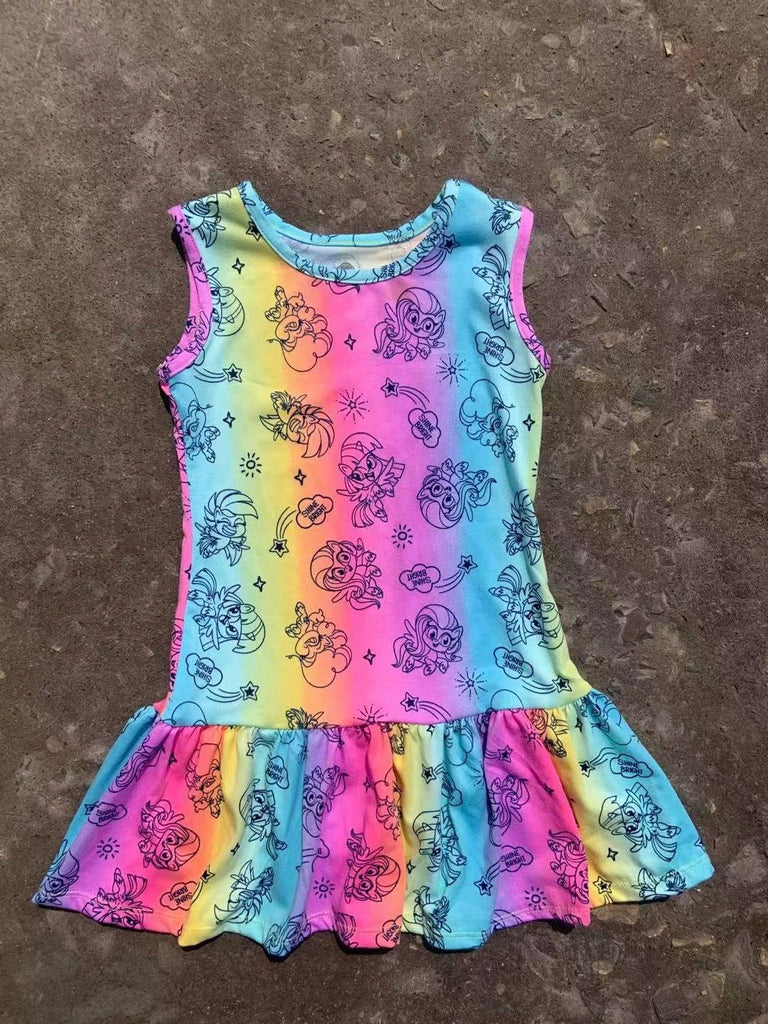 Girls My Little Pony Rainbow Hem Dress A20137L