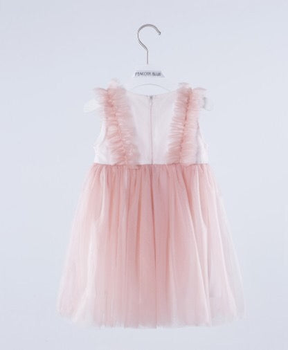 2-8Y Kids Elegant Tulle Dress by Peacock Blue G20123A