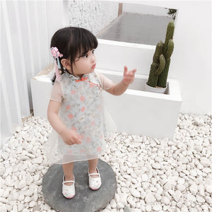 2-6Y Girls Floral Cheongsam Dress A200C69B