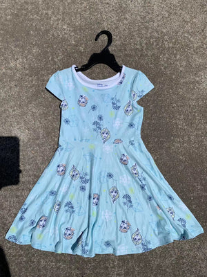 Girls Frozen Flare Dress A20136D
