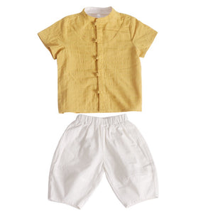 2-8Y Boys Mandarin Collar Top and Bottom 2pcs Set A100C43A