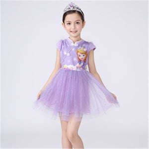 3-10Y Girls Cartoon Cheongsam Dress A200C68F