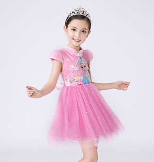 3-10Y Girls Cartoon Cheongsam Dress A200C68E