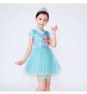 3-10Y Girls Cartoon Cheongsam Dress A200C68D