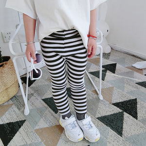 1-8Y Kids Stripes Legging Pants A20451A