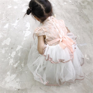2-8Y Girls Lace Cheongsam Tulle Dress A200C69I