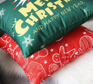 Linen Double Sided Printed Christmas Cushion Covers X658C