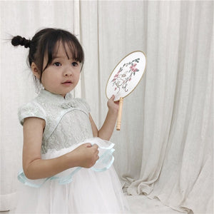 2-8Y Girls Lace Cheongsam Tulle Dress A200C69H