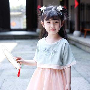 2-15Y Girls Chinese Traditional Cheongsam Dress A200C41F