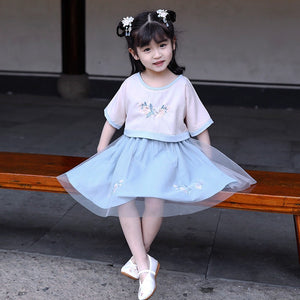 2-15Y Girls Chinese Traditional Cheongsam Dress A200C41E