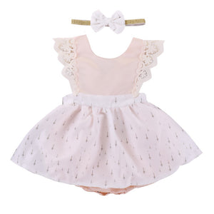 Christmas White Romper Dress A20128K