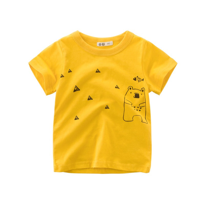 2-8Y Kids Teddy Bear Shirt A10424C