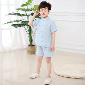 3-7Y Boys Kids Mandarin Top and Bottom 2pcs Set A100C42L