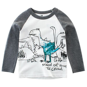 2-8Y Kids Dinosaur Long-Sleeves Shirt A10424D