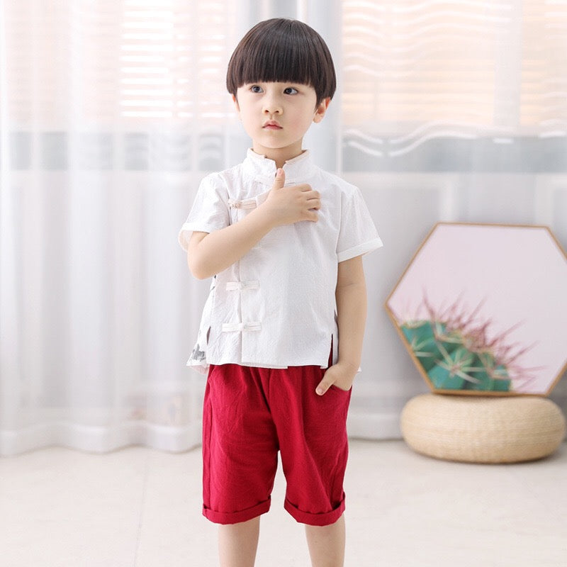 2-7Y Boys Kungfu Top and Bottom 2pcs Set A100C42N