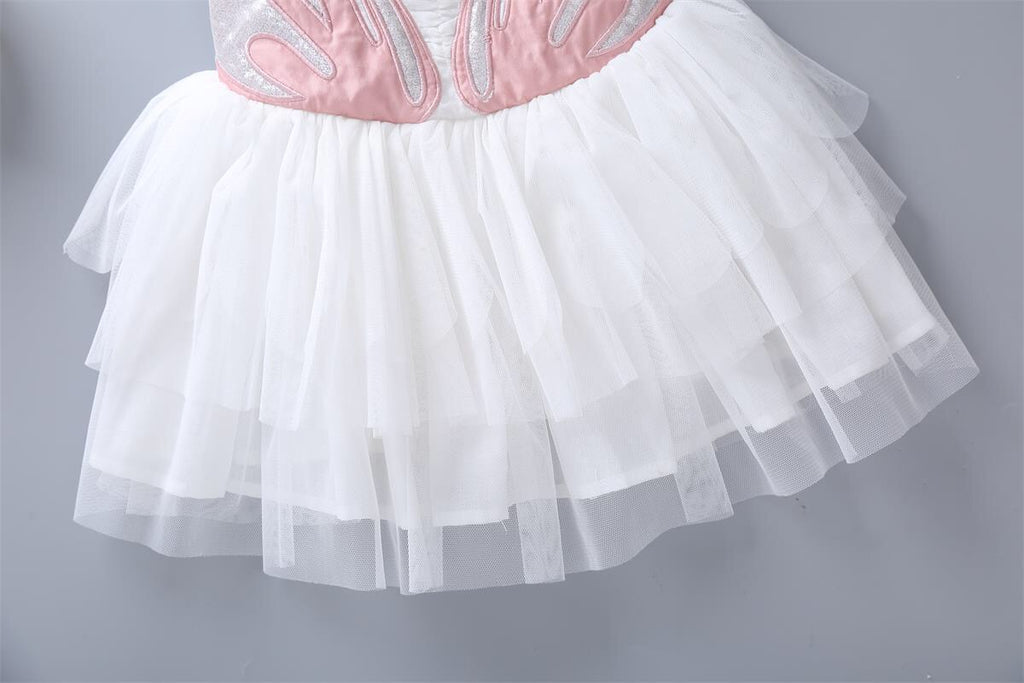 2-8Y Swan Tulle Dress with Detachable Wings G20125K