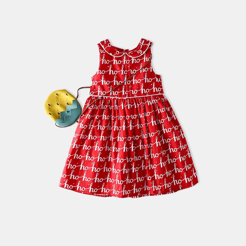 3-8Y Girls hohoho Elegant Christmas Dress G20125E