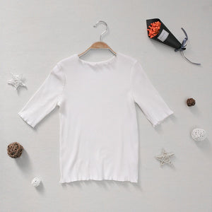 3-15Y Girls White Cotton Top A20211F (Mother sizes available)