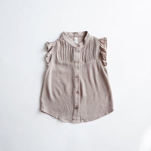 2-8Y Girls Ruffles Button Top A20211G