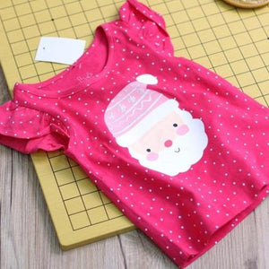 1-7Y Girls Santa Claus Shirt A20212E