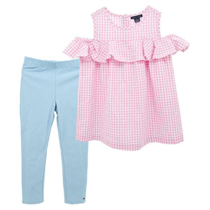 1-6Y Girls Blouse and Bottom 2pcs Set G2241B