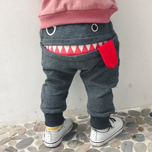 1-4Y Kids Monster Pants A1036H