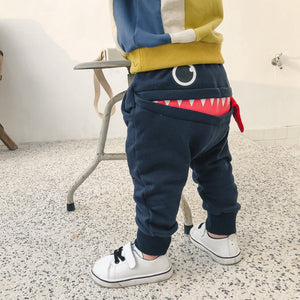1-4Y Kids Monster Pants A1036I