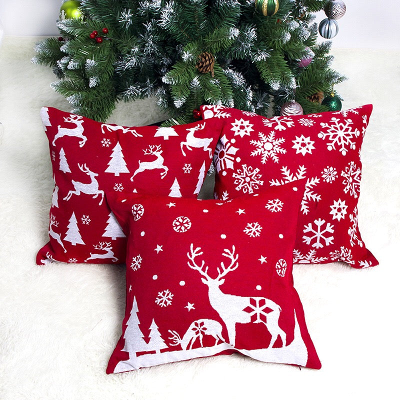 Flannel Single Sided Printed Christmas Cushion Covers X659B