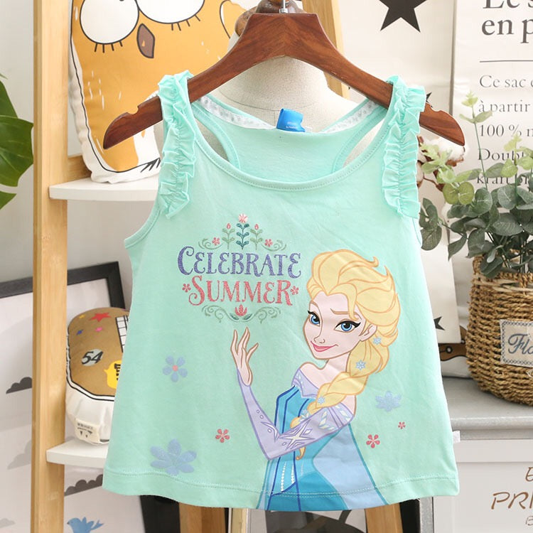 1-10Y Girls Frozen Elsa Shirt A20212H