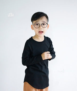 3-15Y Boys Black Shirt A10442A