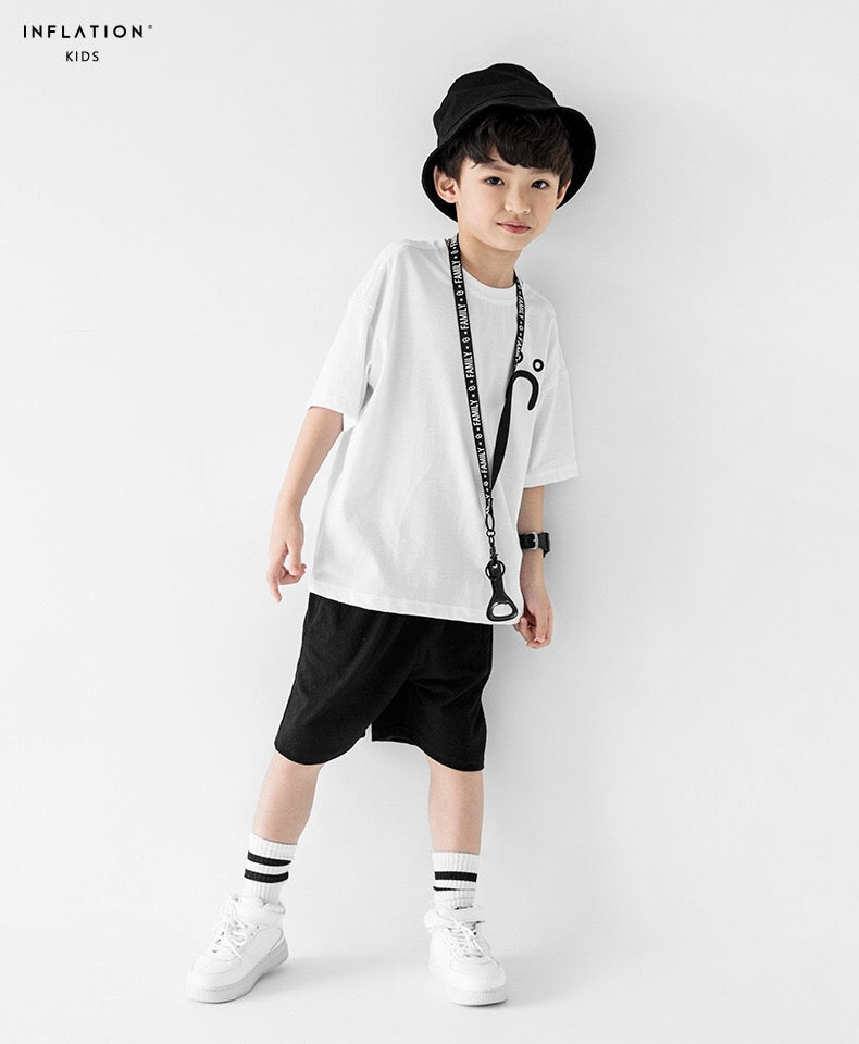 3-15Y Boys White Smily Shirt A10442E (Father size available)