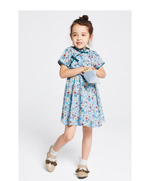 2-8Y Girls Floral Cheongsam Dress A200C69E