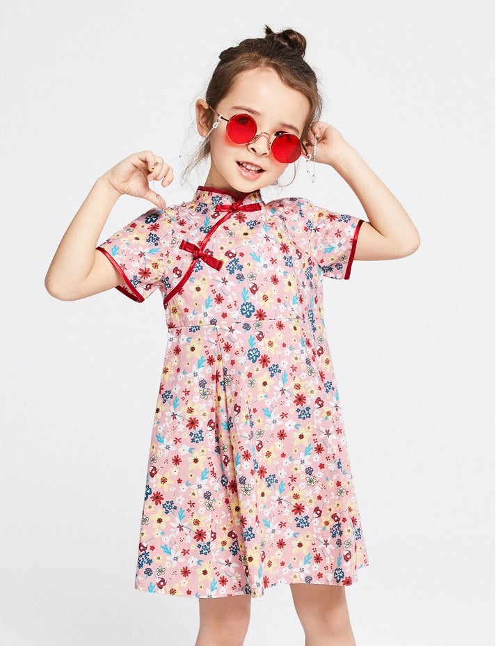 2-8Y Girls Floral Cheongsam Dress A200C69D