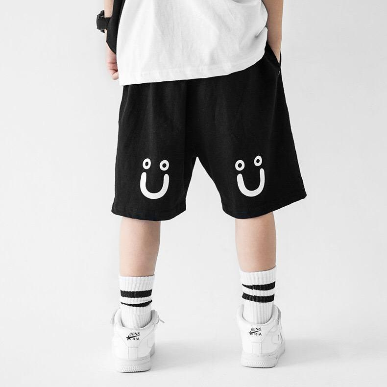 3-15Y Boys Black Smily Shorts A10311A