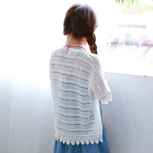 3-15Y Girls White Lace Cardigan G21041F (Mother size available)