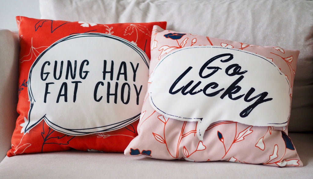 Flannel Double Sided Printed CNY Cushion Covers PPD658B
