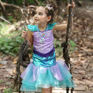 3-10Y Girls Little Mermaid Dress G2091B (pre-order available due to all sizes sold out after first launched)