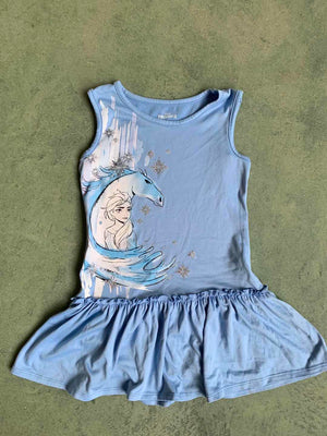 Girls Frozen II Hem Dress A20136I