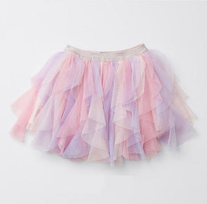 2-8Y Girls Pink Purple Rainbow Skirt A20412B