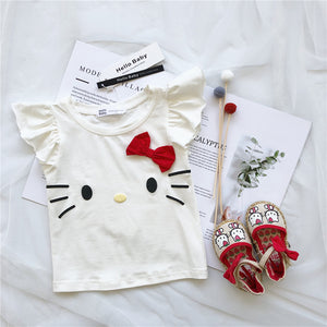1-8Y Girls Kitty Shirt A20211H