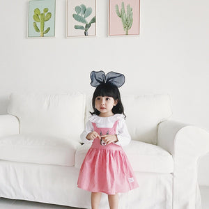 1-6Y Girls Bunny Checker Pinafore Dress A20125K